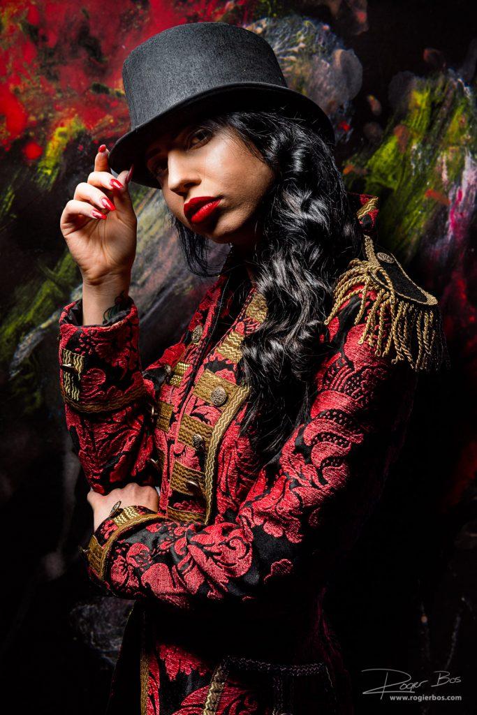 Portret van mooie dame, gemaakt tijdens een workshop van de Duitse fotograaf Stefan Gesell