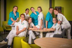 Groepsfoto verpleegkundigen IJsselland Ziekenhuis