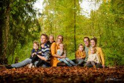 Familieportret in het Kralingse Bos in de herfst