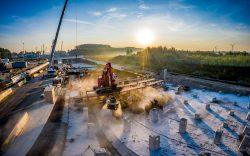 Drone fotografie koppensnellen tunnelbouw