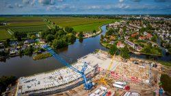 Dronefoto bouw project Heerenveen