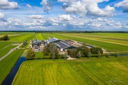 Dronefotografie van boerderij