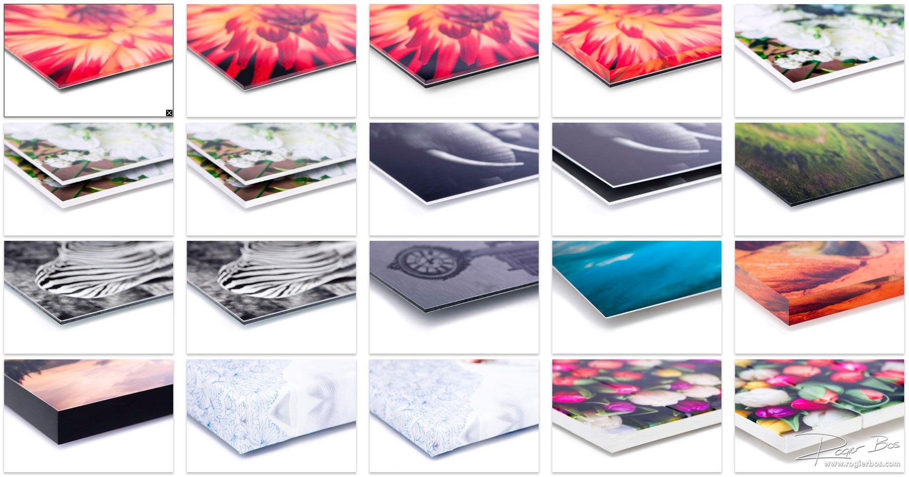 Productfotografie: overzicht van de verschillende afdrukmaterialen