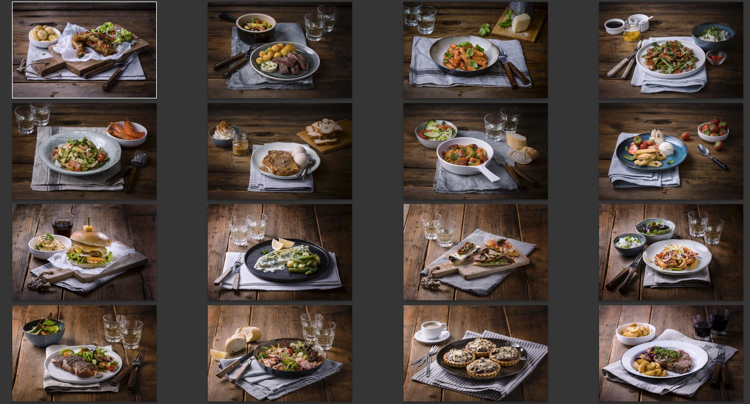 Food fotografie: gerechten voor een kookboek