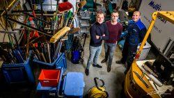 Industrieel groepsportret - de drie broers van schoonmaakbedrijf Multiclean