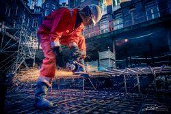 Leuk industrieel fotografie project: snijbrander gefotografeerd in Amsterdam