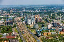 Luchtfoto van de Zuidas, Amsterdam