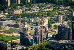 Luchtfotografie - Amsterdam de Valley in aanbouw