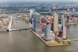 Luchtfotografie - Rotterdam Wilhelminapier en Erasmusbrug