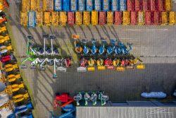 Drone fotografie - overzicht van bedrijf dat hoogwerkers verhuurt