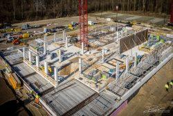 Dronefotografie van betonbouwproject