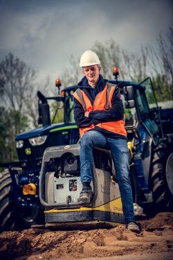 Portret voor wervingscampagne voor bouwbedrijf