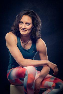 studio portret van een topsportster