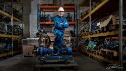 Industrieel Portret van Plant operator in magazijn