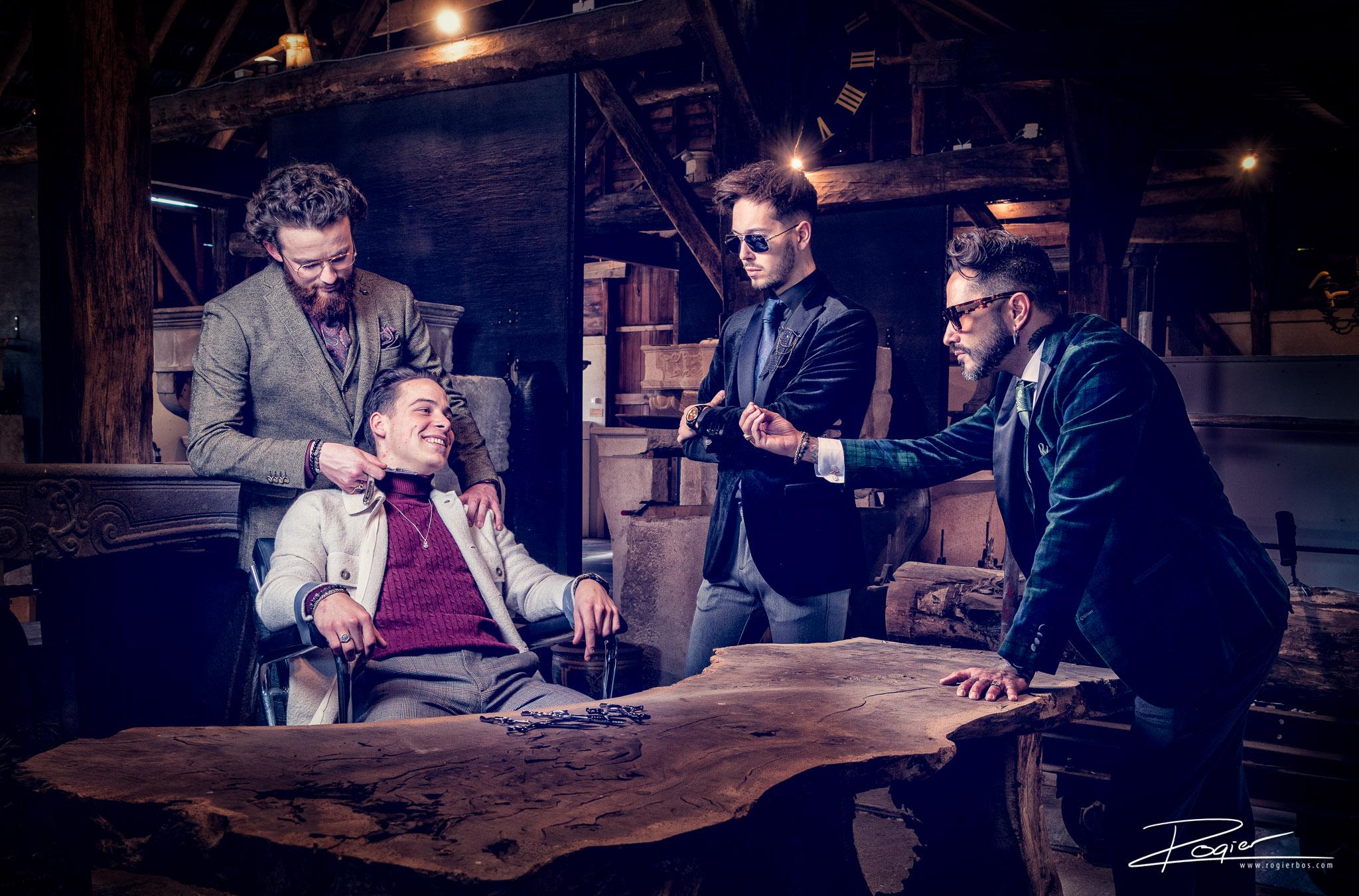 Fashion fotografie - Mafia interrogation met Hype Heroes en Barberstation Den Bosch